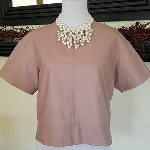 Alexander wang leather blouse sz small